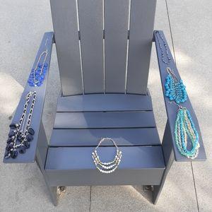 Bundle of 6 plastic beaded necklaces